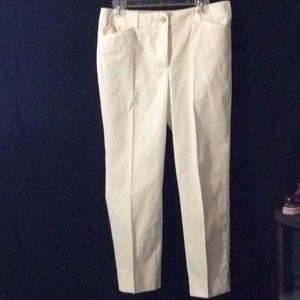 Talbots the perfect crop white ankle on padding #6